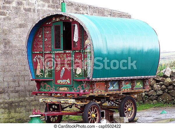 caravane, vieux - csp0502422