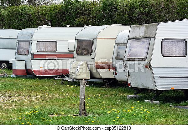 caravanes, voyage, ligne - csp35122810