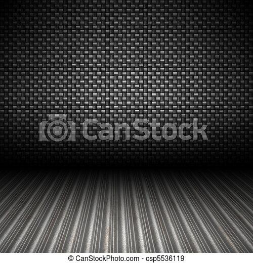 Fibra de carbono, telón de metal - csp5536119