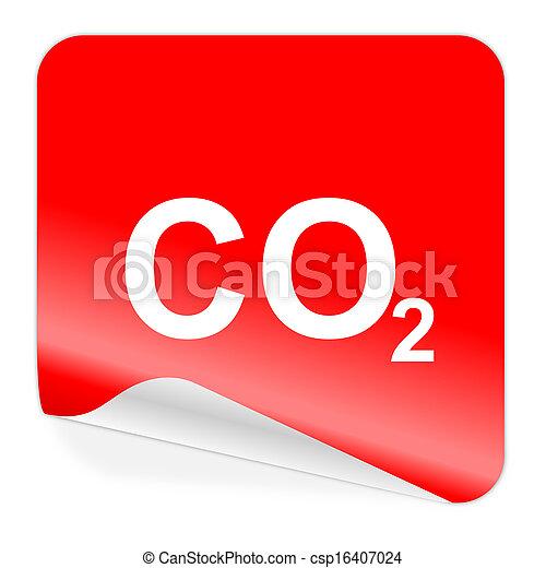 carbon dioxide icon - csp16407024