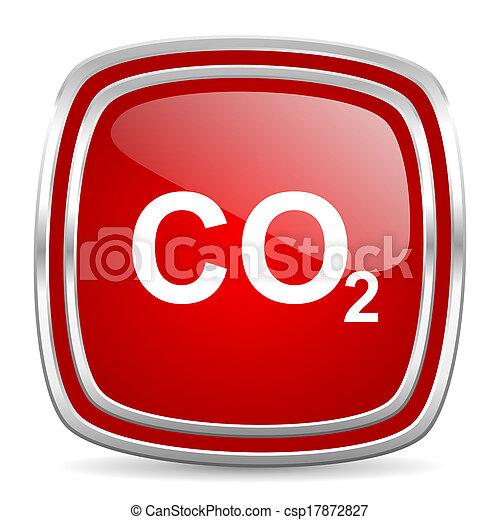 carbon dioxide icon - csp17872827
