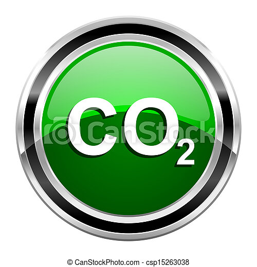 carbon dioxide icon - csp15263038