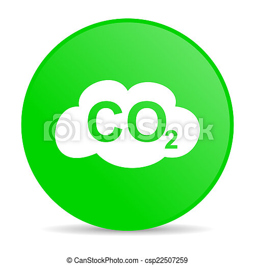 carbon dioxide internet icon - csp22507259
