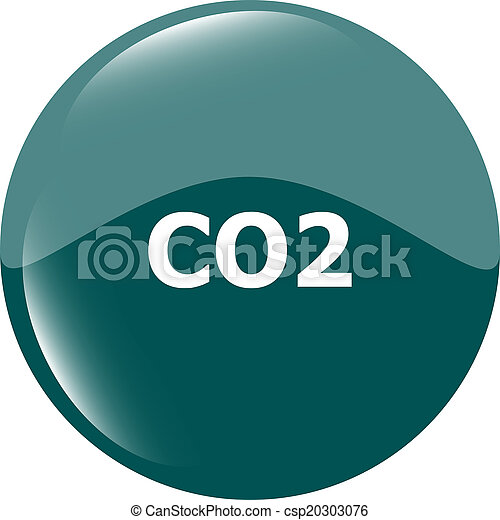 carbon dioxide web app icon, web button - csp20303076