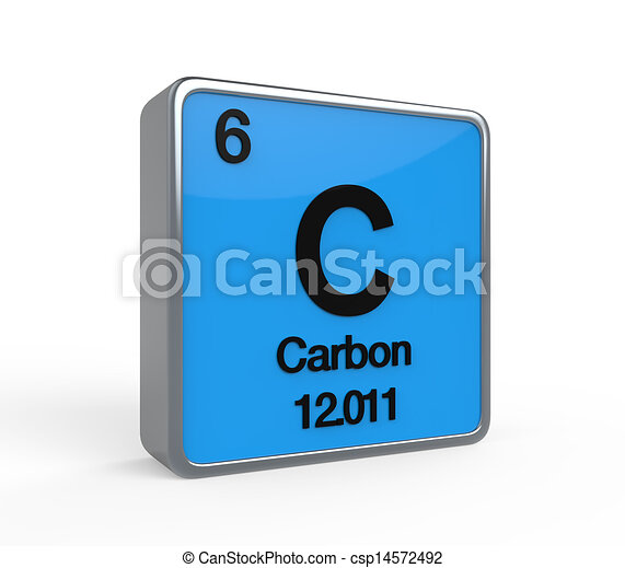 Carbon element periodic table isolated on white background carbon element periodic table csp14572492 urtaz Choice Image