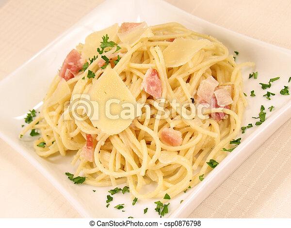 carbonara, espaguetis - csp0876798