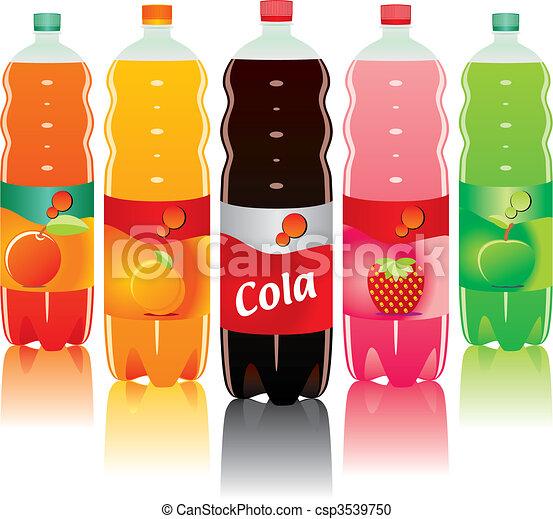 carbonated drink bottles  - csp3539750