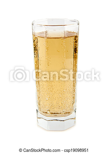 carbonated soft drink in a glass - csp19098951