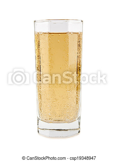 carbonated soft drink in a glass - csp19348947