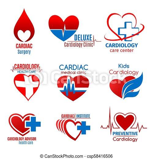 Medicina cardiológica y símbolo de cirugía cardíaca - csp58416506