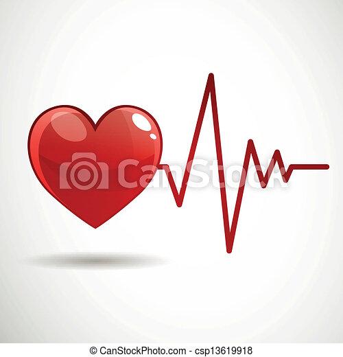 cardíaco, vector, frecuencia - csp13619918