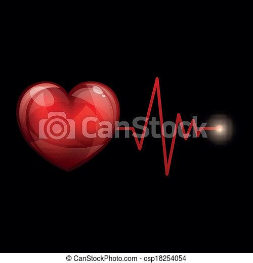 cardíaco, vector, frecuencia - csp18254054