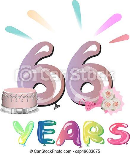 Anniversario Di Matrimonio 66 Anni.Card Augurio Anniversario Anni 66 Celebrazione Card