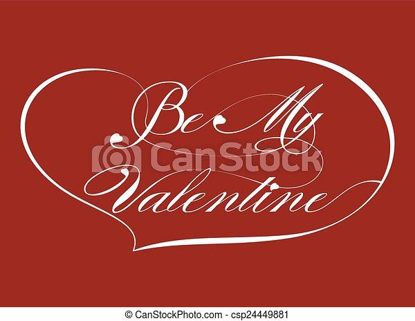 Card - Be My Valentine - csp24449881