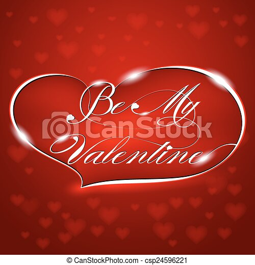 Card-Be My Valentine - csp24596221