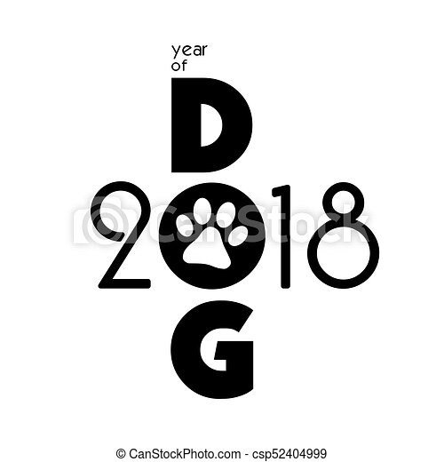 Card., chinesisches , hund, kreativ, calendar., design, 2018 ...