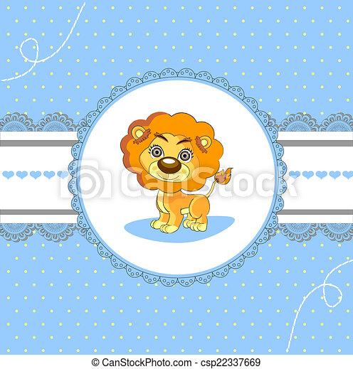 card design baby arrival announcement card cute