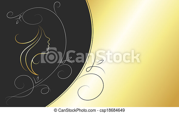 Business card for beauty salon and barbershop vector card for beauty salon csp18684649 reheart Image collections