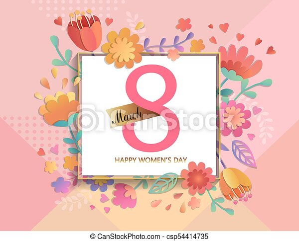 Card For Happy Womens Day Card For Happy Womens Day In Square