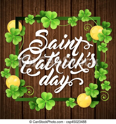 Card for St. Patrick's day. - csp45023488