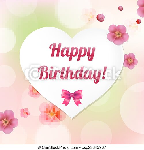 Card Happy Birthday - csp23845967