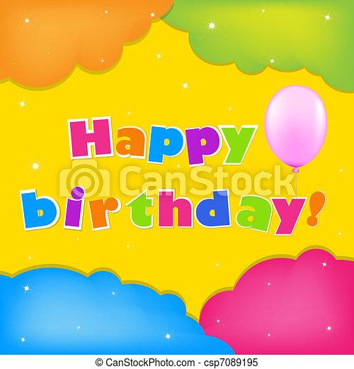 Card Happy Birthday - csp7089195