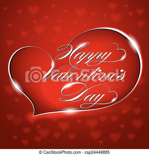 Card - Happy Valentine's Day - csp24449885
