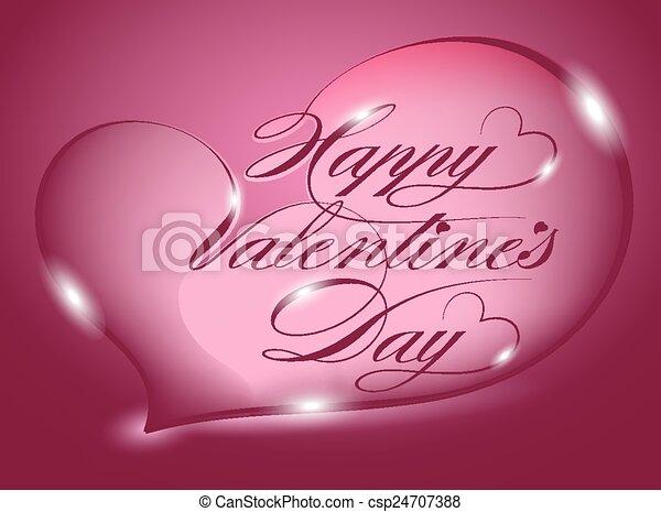 Card - Happy Valentines Day - csp24707388