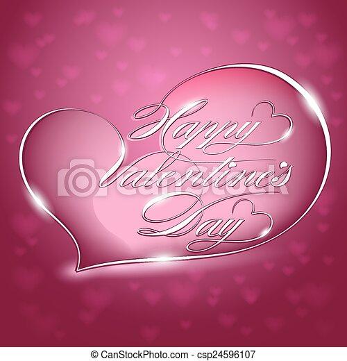Card-Happy Valentines Day - csp24596107