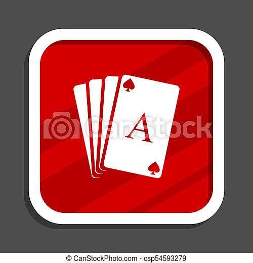 Card icon. Flat design square internet banner. - csp54593279