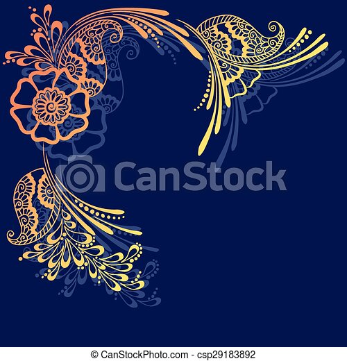card in oriental style - csp29183892