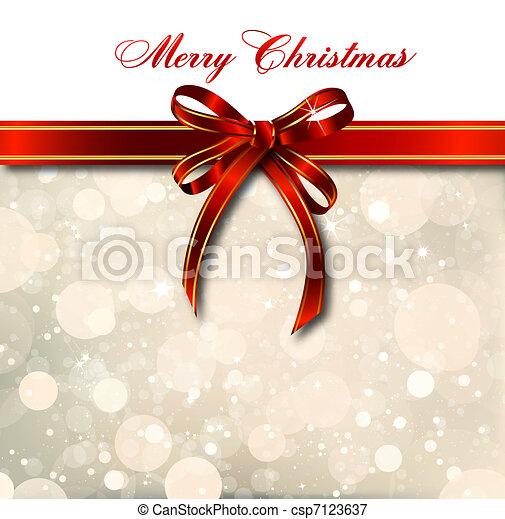 card., mágico, arco, vetorial, natal, vermelho - csp7123637