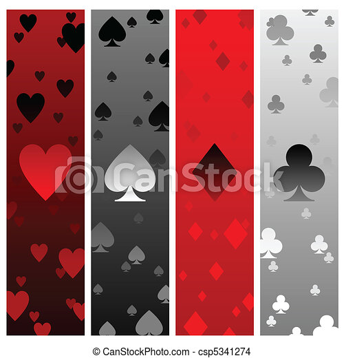 Card suit banners - csp5341274