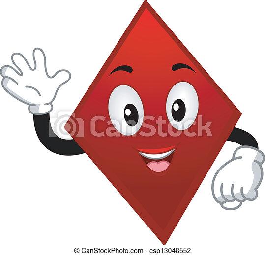 Card Suit Diamond Mascot - csp13048552