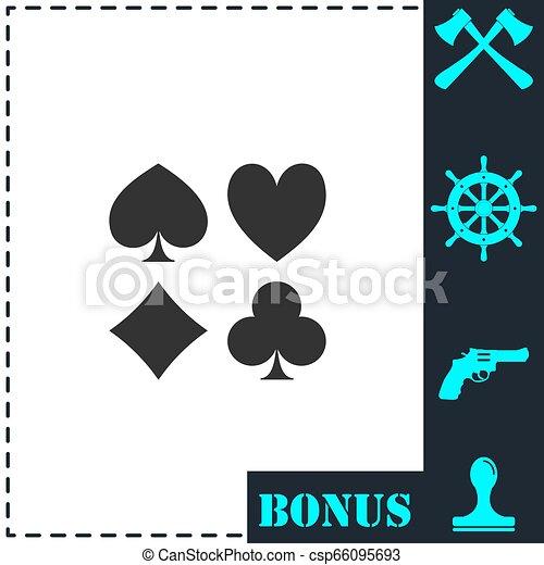 Card suit icon flat - csp66095693