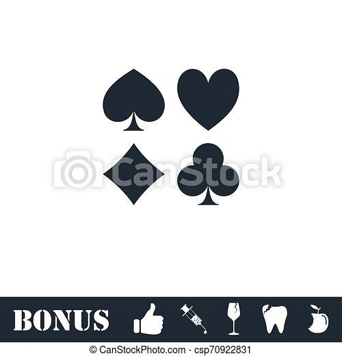 Card suit icon flat - csp70922831