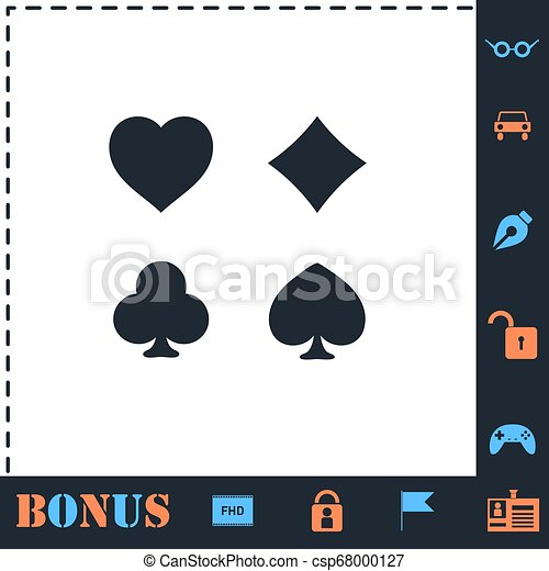 Card suit icon flat - csp68000127