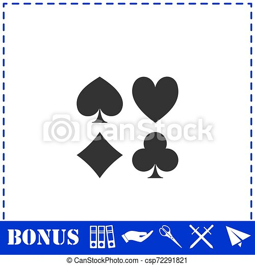 Card suit icon flat - csp72291821