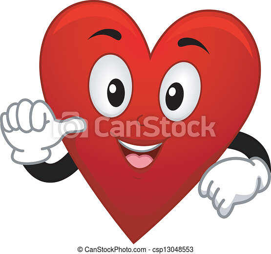 Card Suite Heart Mascot - csp13048553
