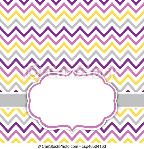 Card template with chevron background. baby shower vector... clip ...
