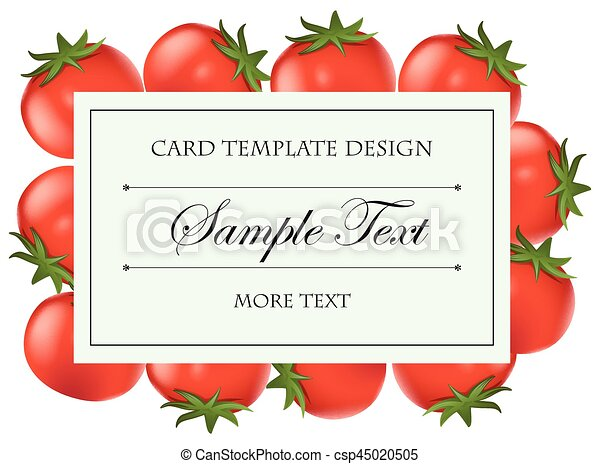 Card template with fresh tomatoes - csp45020505