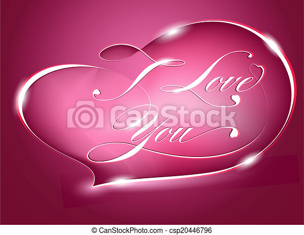 Card %u2013 I Love You, vector - csp20446796