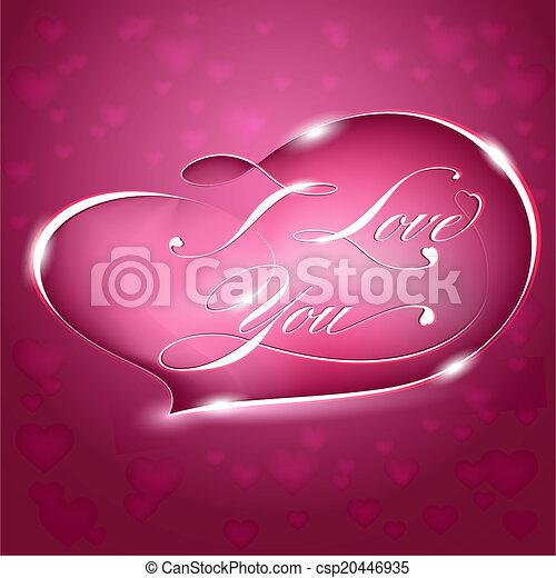 Card %u2013 I Love You, vector - csp20446935