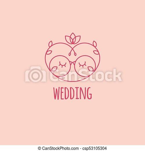 card wedding vector illustration of two lovebirds vector