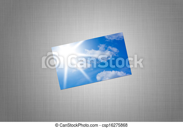 card with a picture of sky - csp16275868
