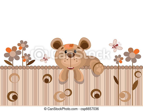Card with bear - csp6657036