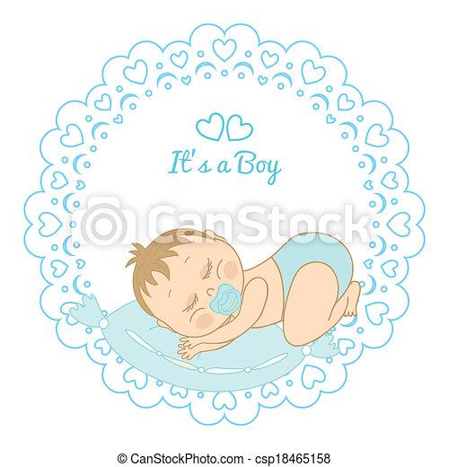 card with birthday boy - csp18465158
