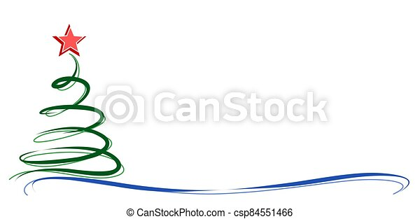Card with Christmas tree. - csp84551466