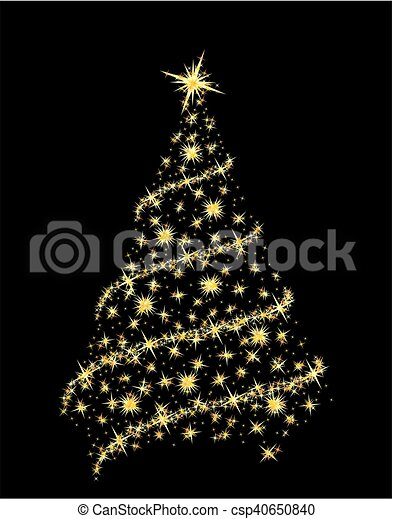 Card with Christmas tree. - csp40650840