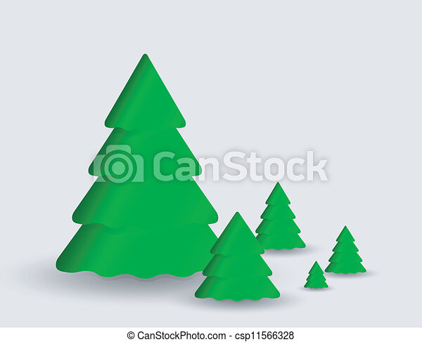Card with christmas tree - csp11566328